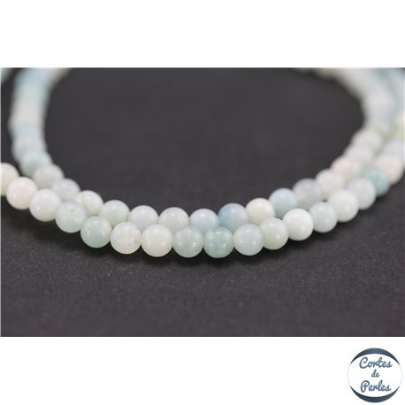 Perles semi précieuses en amazonite - Rondes/4 mm - Turquoise light