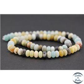 Perles semi précieuses en amazonite - Roues/8 mm - Multicolore