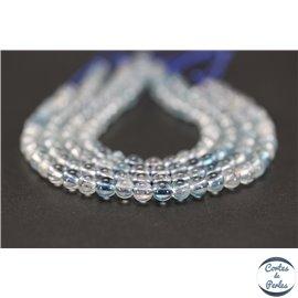Perles semi précieuses en cristal crack - Rondes/4 mm - Bleu ciel
