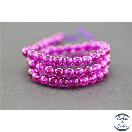 Perles semi précieuses en cristal crack - Rondes/6 mm - Camélia