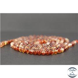 Perles semi précieuses en cristal crack - Rondes/6 mm - Corail