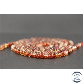 Perles en cristal crack corail - Rondes/6mm