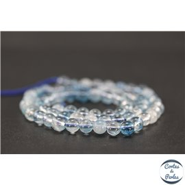Perles semi précieuses en cristal crack - Rondes/6 mm - Bleu ciel