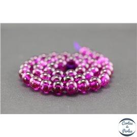 Perles semi précieuses en cristal crack - Rondes/8 mm - Camélia
