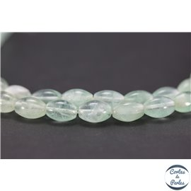 Perles en fluorite light - Olives/8mm