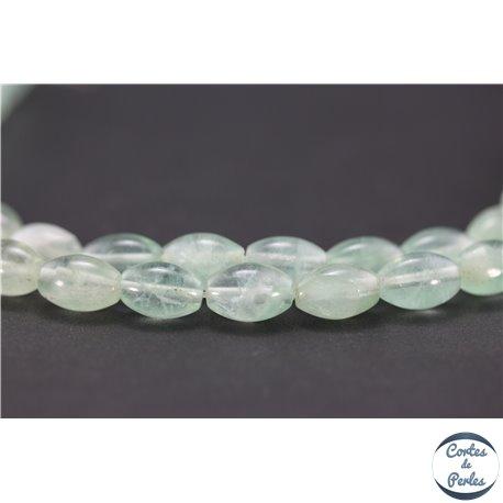 Perles semi précieuses en fluorite - Olives/8 mm - Water green