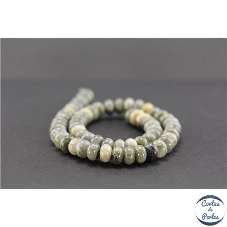 Perles semi précieuses en labradorite - Roues/10 mm - Gris smoke