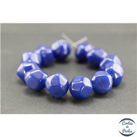 Perles en résine naturelle - Pépites/18 mm - Bleu Capri