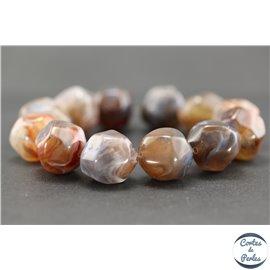 Perles en résine naturelle - Pépites/18 mm - Gris bleuté