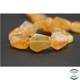 Perles en résine naturelle - Losanges/22 mm - Abricot