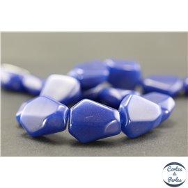 Perles en résine naturelle - Losanges/22 mm - Bleu Capri
