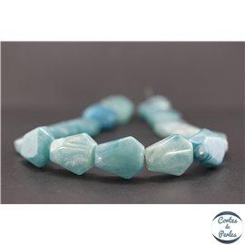 Perles en résine naturelle - Losanges/22 mm - Turquoise