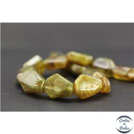 Perles en résine naturelle - Losanges/22 mm - Bronze