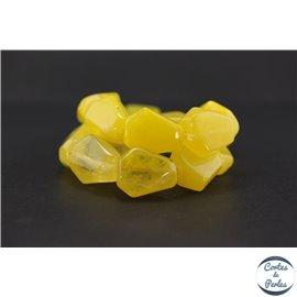 Perles en résine naturelle - Losanges/22 mm - Jaune