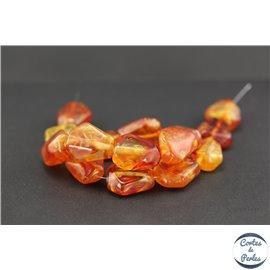 Perles en résine naturelle - Losanges/22 mm - Ambre doré