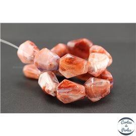 Perles en résine naturelle - Losanges/22 mm - Bleu rouge