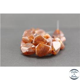 Perles en résine naturelle - Losanges/22 mm - Grenat