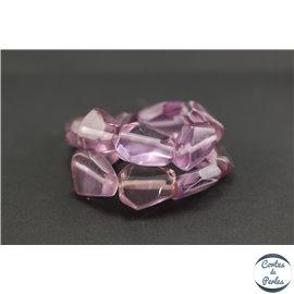 Perles en résine naturelle - Losanges/22 mm - Violet