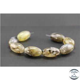 Perles en résine naturelle - Olives/30 mm - Gris cendré