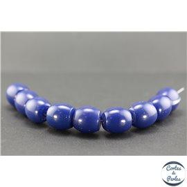 Perles en résine naturelle - Tonneaux/18 mm - Bleu Capri