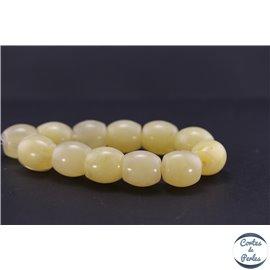 Perles en résine naturelle - Tonneaux/18 mm - Ivoire