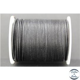 Cordon Cuir Premium - 1,5 mm - Noir