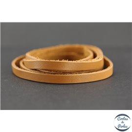 Lanière Cuir Premium - 6 mm - Camel
