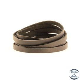 Lanière Cuir Premium - 6 mm - Noir