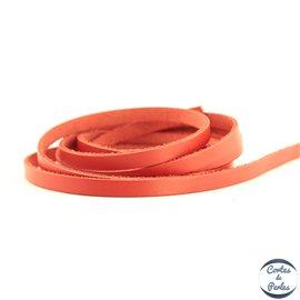 Lanière Cuir Premium - 6 mm - Rouge