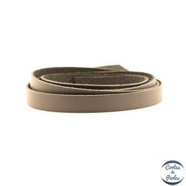 Lanière Cuir Premium - 10 mm - Noir