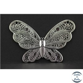 Apprêts american finding pampilles vernies - Papillons/58 mm - Argenté