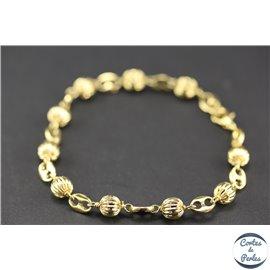 Bracelets marseillais - 19 cm - Doré