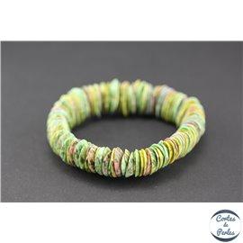 Bracelets en coquillages - Vert