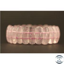 Bracelets en semi précieuses - Quartz Rose