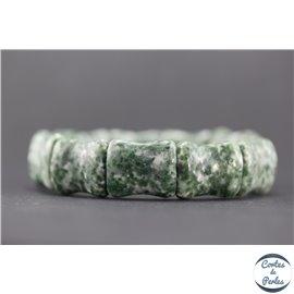 Bracelets en semi précieuses - Green Moss Agate