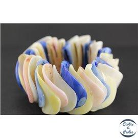 Bracelet en coquillage - Multicolore bleu