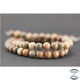 Perles semi précieuses en jaspe - Rondes/6 mm - Korea stone