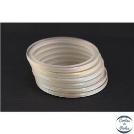 Bracelet plexiglass - 2 mm - Blanc argenté