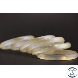 Bracelet plexiglass - 9 mm - Blanc argenté