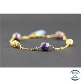 Bracelets marseillais - 19 cm - Bleu