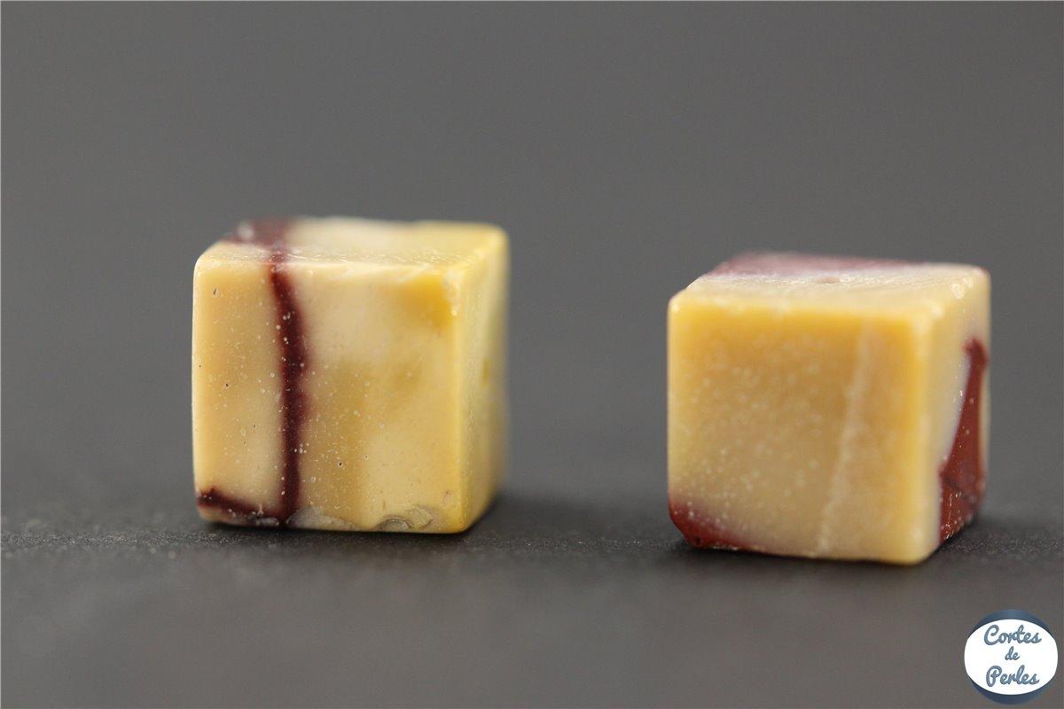 grossiste perles semi pr cieuses en jaspe cubes 8 mm multicolore pas cher. Black Bedroom Furniture Sets. Home Design Ideas