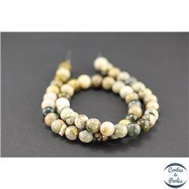 Perles semi précieuses en jaspe - Rondes/8 mm - Jaspe océan