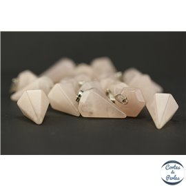 Lot de 5 pendentifs en quartz rose - Pics/25 mm