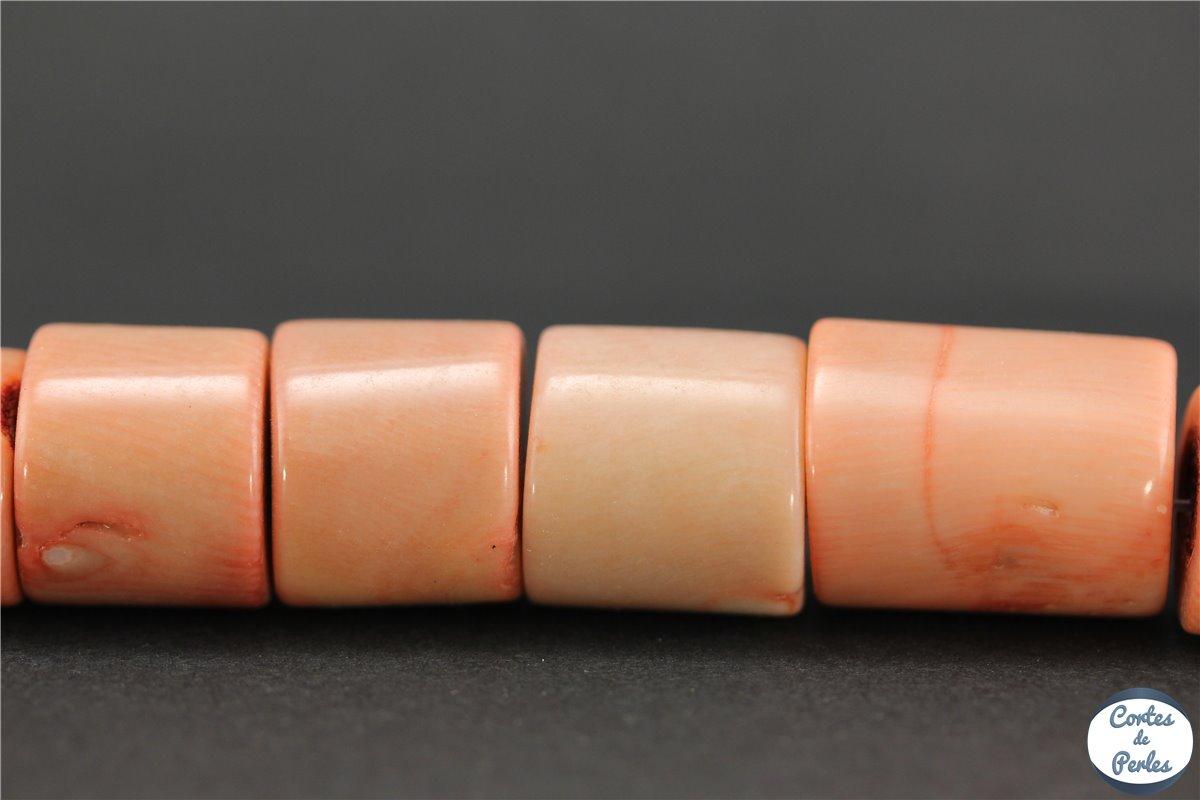 grossiste perles semi pr cieuses en gorgone corail tubes 18 mm rose discount. Black Bedroom Furniture Sets. Home Design Ideas
