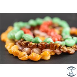 Perles semi précieuses en corail - Rondes/21 mm - Rose