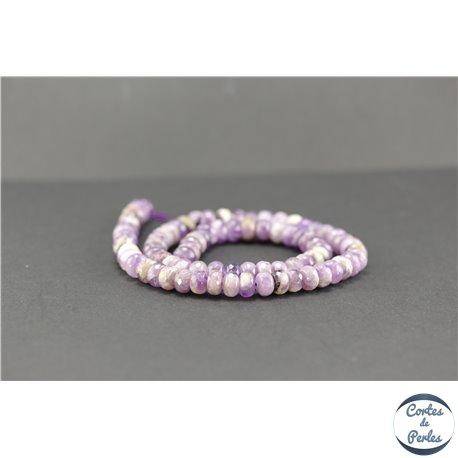 Perles semi précieuses en améthyste - Roue/7.5 mm