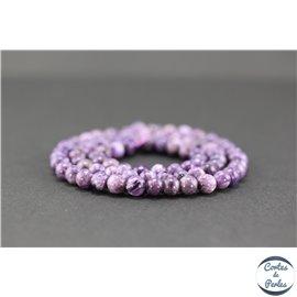 Perles semi précieuses en charoïte - Ronde/5.5 mm