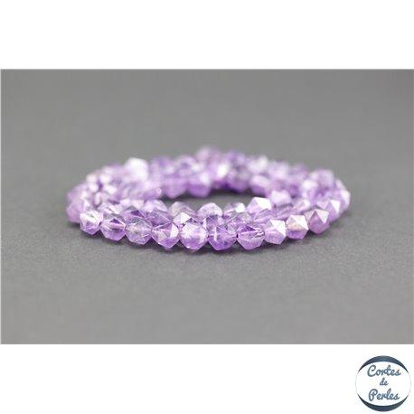 Perles semi précieuses en améthyste - Pépite/5 mm