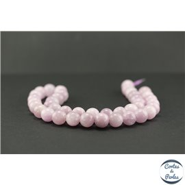 Perles semi précieuses en kunzite - Ronde/10 mm - Grade AA