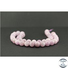 Perles en kunzite - Rondes/10mm - Grade A+